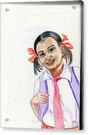 Little Manju Acrylic Print by Asha Sudhaker Shenoy