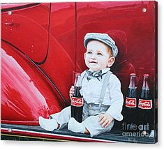 Acrylic Print featuring the painting Little Mason by Mike Ivey