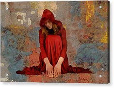 Little Mel Riding Hood Acrylic Print by Trish Tritz