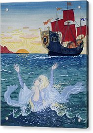 Little Mermaid Acrylic Print by Lorenz Frolich