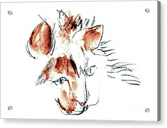 Acrylic Print featuring the mixed media Little Merph - Cats by Carolyn Weltman