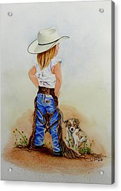Little Miss Big Britches Acrylic Print