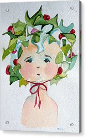 Little Miss Innocent Ivy Acrylic Print by Mindy Newman