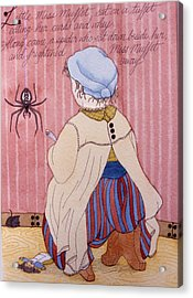 Little Miss Muffet Acrylic Print by Victoria Heryet