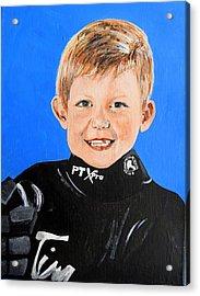 Little Mister G Acrylic Print by Betty-Anne McDonald