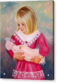 Little Mommy Acrylic Print by Joni McPherson