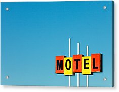 Little Motel Sign Acrylic Print by Todd Klassy