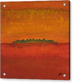 Little Needles Original Painting Acrylic Print by Sol Luckman