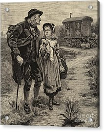Little Nell And Her Grandfather  Acrylic Print by Frederick Morgan