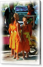 Little Novice Monks 1 Acrylic Print