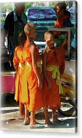 Little Novice Monks 1-cropped Acrylic Print