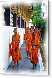 Little Novice Monks 2 Acrylic Print