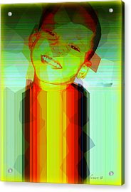 Little Obama Acrylic Print by Fania Simon
