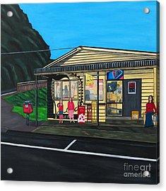 Little Oneroa Store Acrylic Print by Sandra Marie Adams