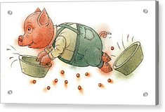 Little Pig Acrylic Print by Kestutis Kasparavicius