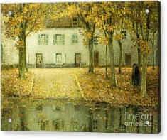 Little Place On The Banks Of The Eau At Chartres Acrylic Print