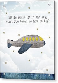 Little Plane Acrylic Print by Samuel Whitton