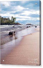 Little Presque Isle Acrylic Print by Phil Perkins