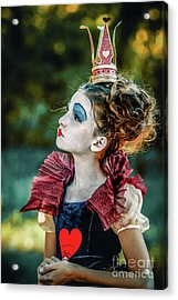 Acrylic Print featuring the photograph Little Princess Of Hearts Alice In Wonderland by Dimitar Hristov