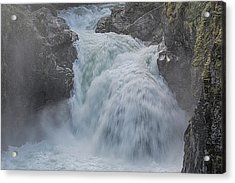 Acrylic Print featuring the photograph Little Qualicum Upper Falls by Randy Hall