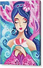 Little Quan Yin Mermaid Acrylic Print