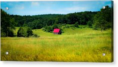 Little Red Barn Acrylic Print by Karen Wiles
