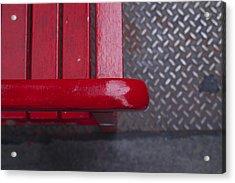Little Red Bench Acrylic Print by Henri Irizarri
