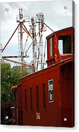 Little Red Caboose Acrylic Print by Jame Hayes