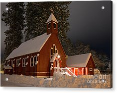 Little Red Church Acrylic Print by Idaho Scenic Images Linda Lantzy