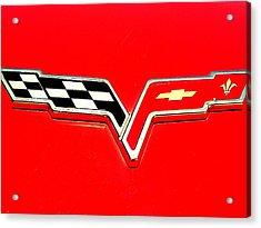 Little Red Corvette Acrylic Print by Kevin D Davis