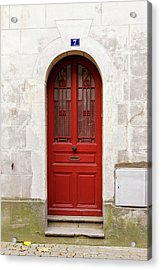 Acrylic Print featuring the photograph Little Red Door by Melanie Alexandra Price