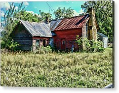 Little Red Farmhouse Acrylic Print by Paul Ward