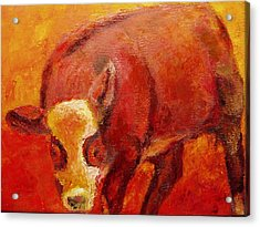 Acrylic Print featuring the painting Little Red by Marie Hamby