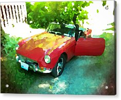Little Red M G B Acrylic Print