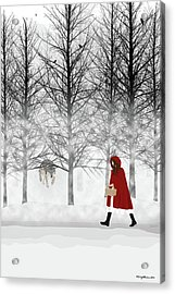 Acrylic Print featuring the digital art Little Red by Nancy Levan