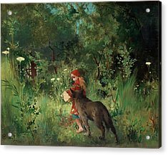 Little Red Riding Hood Acrylic Print by Mountain Dreams