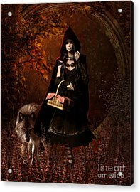 Little Red Riding Hood Gothic Acrylic Print by Shanina Conway