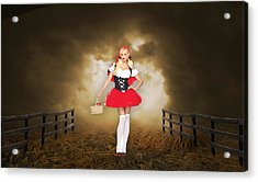 Acrylic Print featuring the mixed media Little Red Riding Hood by Marvin Blaine