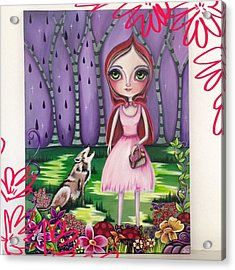 little Red Riding Hood Painting Acrylic Print