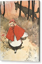 Little Red Riding Hood Acrylic Print by Tom Browne