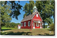 Acrylic Print featuring the photograph Little Red School House by Charles Kraus