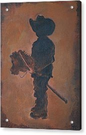 Acrylic Print featuring the painting Little Rider by Leslie Allen