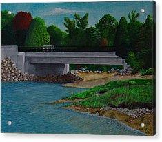 Little River Bridge Acrylic Print by Ron Sylvia