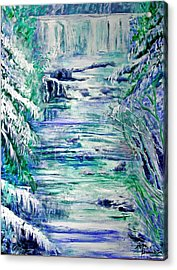 Little River Canyon Ice Storm Acrylic Print by Anne Hamilton