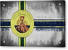 Acrylic Print featuring the digital art Little Rock City Flag by JC Findley