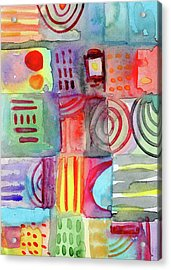 Little Rooms Patchwork 20- Art By Linda Woods Acrylic Print