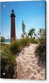 Little Sable Light Station - Film Scan Acrylic Print by Larry Carr