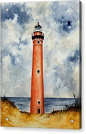 Little Sable Point Lighthouse Acrylic Print by Michael Vigliotti