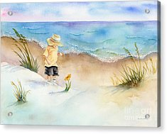 Little Saint Acrylic Print by Amy Kirkpatrick