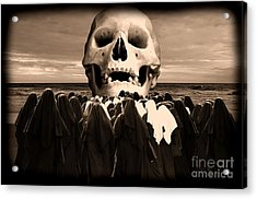 Little Sisters Of The Divine Skull Acrylic Print by Wayne Higgs